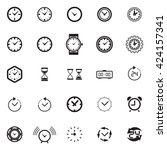 modern time icon collection.... | Shutterstock .eps vector #424157341