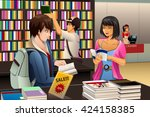 a vector illustration of people ... | Shutterstock .eps vector #424158385