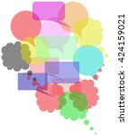 colored speech bubbles group | Shutterstock .eps vector #424159021