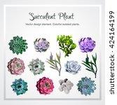 succulent plant. vector design... | Shutterstock .eps vector #424164199