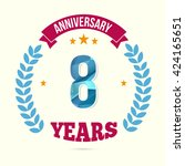 8 years anniversary with low... | Shutterstock .eps vector #424165651