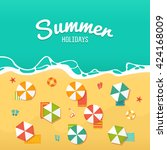 summer holidays illustrations... | Shutterstock .eps vector #424168009