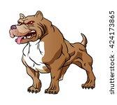 strong pitbull bodybuilder. | Shutterstock .eps vector #424173865