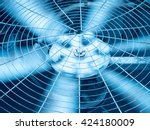 blue tone of hvac  heating ... | Shutterstock . vector #424180009