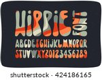 Smooth Hippie Font Filled With...