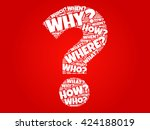 question mark  question words...   Shutterstock .eps vector #424188019