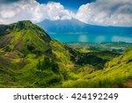 active indonesian volcano... | Shutterstock . vector #424192249