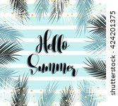 hello summer text quote with...   Shutterstock .eps vector #424201375