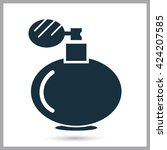 perfume icon on the background | Shutterstock .eps vector #424207585