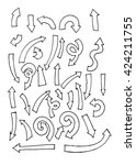 arrow freehand vector | Shutterstock .eps vector #424211755