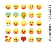 vector emotional face icons3 | Shutterstock .eps vector #424212151