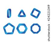 logo templates set. modern... | Shutterstock .eps vector #424221349