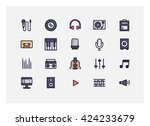 music icon set vector. | Shutterstock .eps vector #424233679