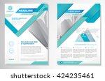 vector brochure flyer design... | Shutterstock .eps vector #424235461