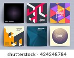 set of backgrounds with trendy... | Shutterstock .eps vector #424248784