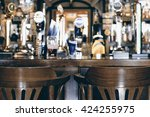 beer bar pub  long table with... | Shutterstock . vector #424255975