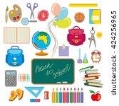 back to school  set. | Shutterstock .eps vector #424256965