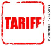 tariff  red rubber stamp with...