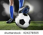 close up legs and feet of... | Shutterstock . vector #424278505