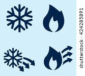 hot and cold icons | Shutterstock .eps vector #424285891