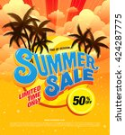 summer sale template banner | Shutterstock .eps vector #424287775