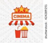 filmed entertainment design  | Shutterstock .eps vector #424289251