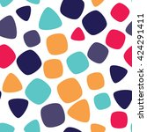 seamless pattern with squares... | Shutterstock .eps vector #424291411