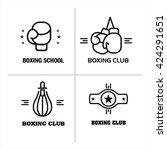 boxing. vector logos  emblems.   Shutterstock .eps vector #424291651