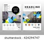geometric vector background.... | Shutterstock .eps vector #424294747