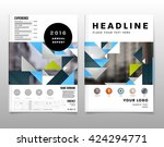 geometric vector background.... | Shutterstock .eps vector #424294771