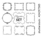 set of outline decorative... | Shutterstock .eps vector #424297585