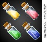 set of vector cartoon potion...