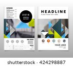 geometric vector background.... | Shutterstock .eps vector #424298887