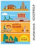 flat design  illustration of... | Shutterstock .eps vector #424299019