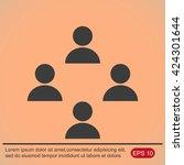 business man icon.   team work | Shutterstock .eps vector #424301644
