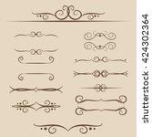 a set of frames  ornaments... | Shutterstock .eps vector #424302364