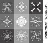circular and spiral logo...   Shutterstock .eps vector #424302634