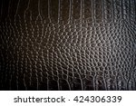 brown crocodile leather with... | Shutterstock . vector #424306339