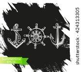 vector background   anchor ... | Shutterstock .eps vector #424313305