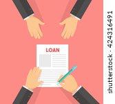 business   infographics loan...   Shutterstock .eps vector #424316491