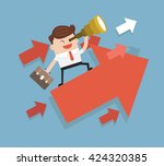 searching for opportunities.... | Shutterstock .eps vector #424320385