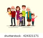 big family together. vector... | Shutterstock .eps vector #424321171