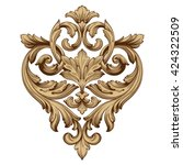 vintage baroque ornament. retro ... | Shutterstock .eps vector #424322509