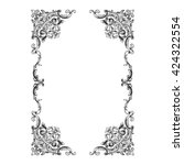 vintage baroque ornament. retro ... | Shutterstock .eps vector #424322554