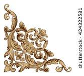vintage baroque ornament. retro ... | Shutterstock .eps vector #424322581
