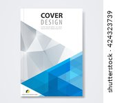 cover template  brochure layout ... | Shutterstock .eps vector #424323739
