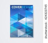 cover template  brochure...   Shutterstock .eps vector #424323745
