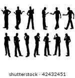 man silhouettes in vector in... | Shutterstock .eps vector #42432451