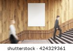 side view of blank poster on... | Shutterstock . vector #424329361