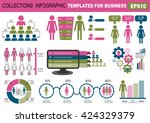 collection of infographic... | Shutterstock .eps vector #424329379